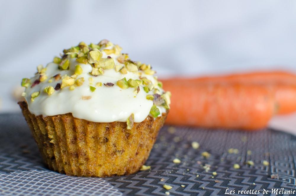 Carrot cupcake à la pistache - Bataille food #35