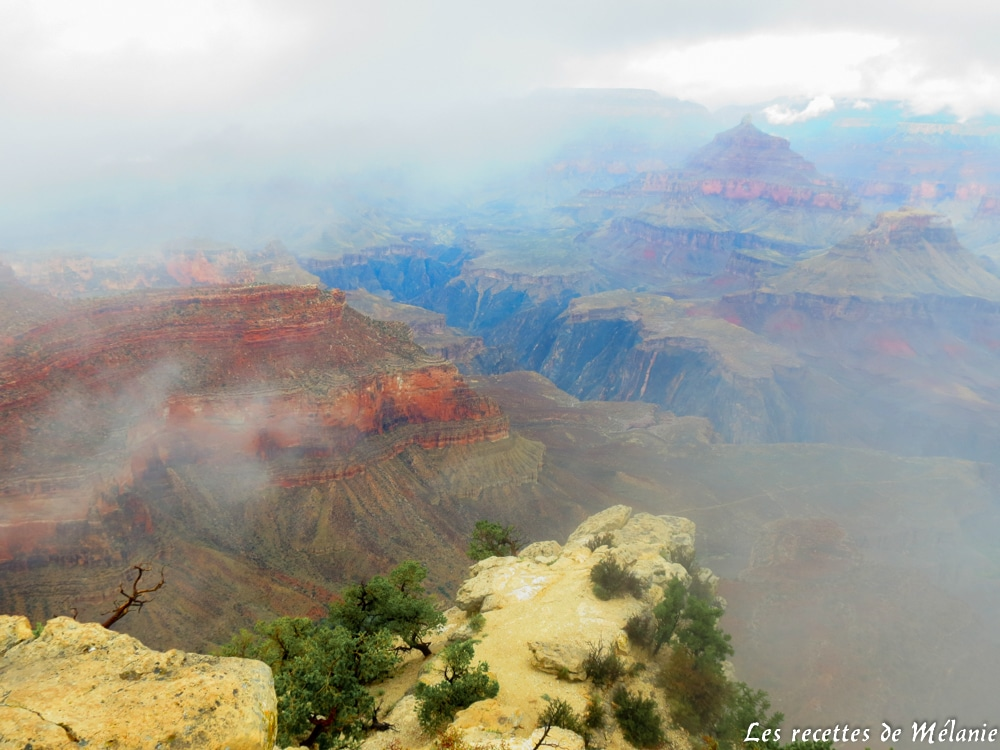 Grand canyon sous le brouillard