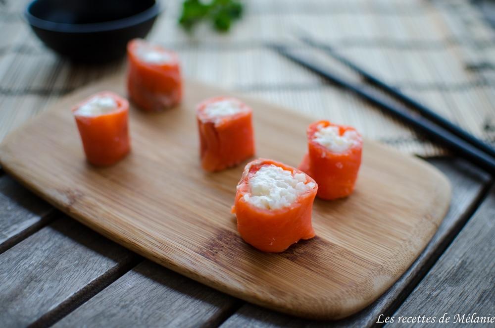 Makis de saumon au thé vert