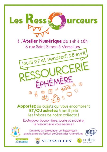 Affiche Ressourcerie Ephémère Versailles