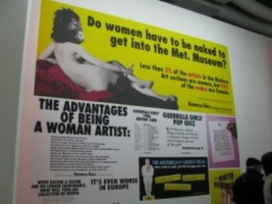 """Guerilla Girls, """"Do women have to be naked to get into the Met. Museum?"""", 1989"""