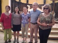 Marie-Claude FENIE, Yuhsin U CHANG, Maggie GORMAN, M. DUCENE, maire de Ste Alvère, Annie WOLFF, présidente des Rives de l'Art,