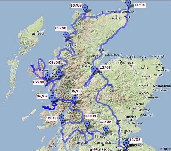 L'Ecosse en camping-car en itinérant : région d'Edimburgh 2
