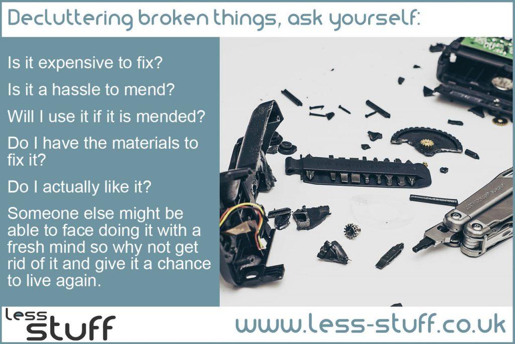 declutter broken things