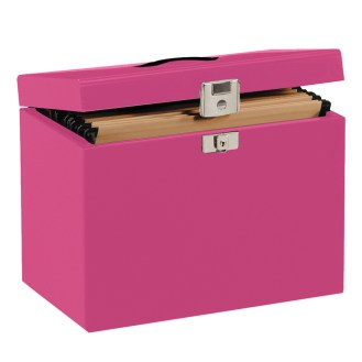 Pink Metal Filing Box