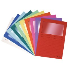 Plastic Folders with Windows