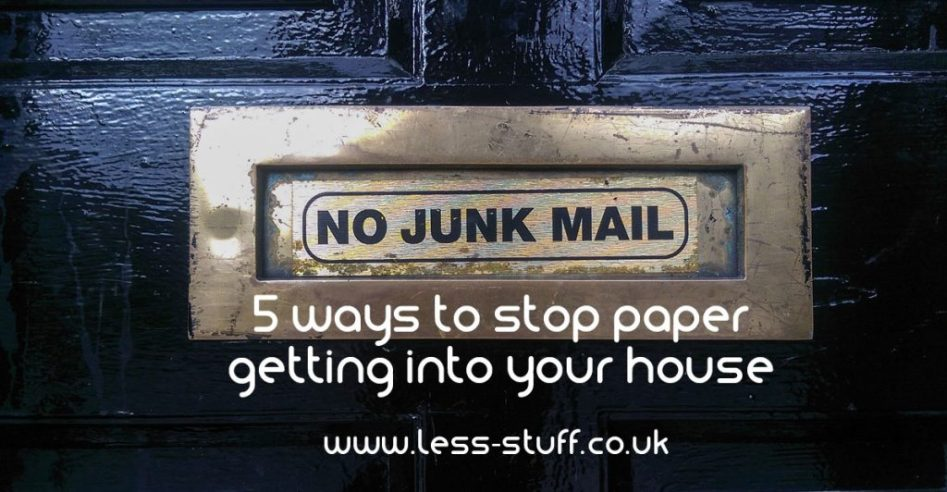 5 ways to stop paper getting into your house