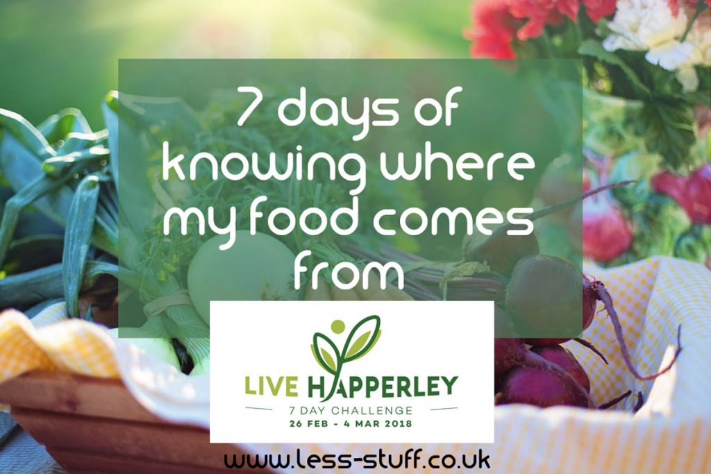 7 days of eating local food