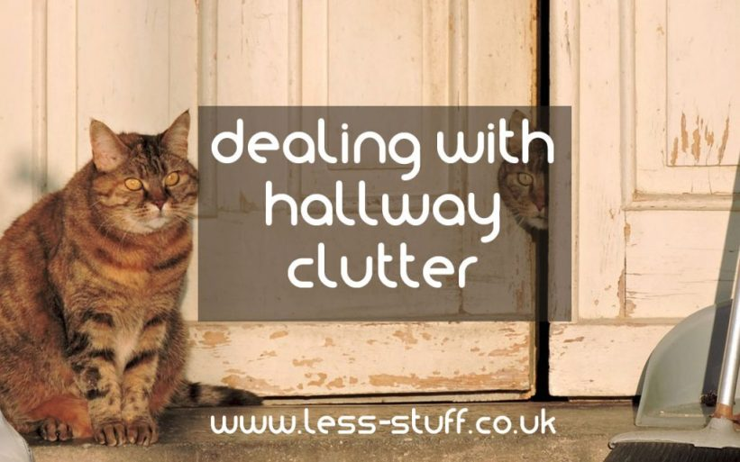 dealing with hallway clutter