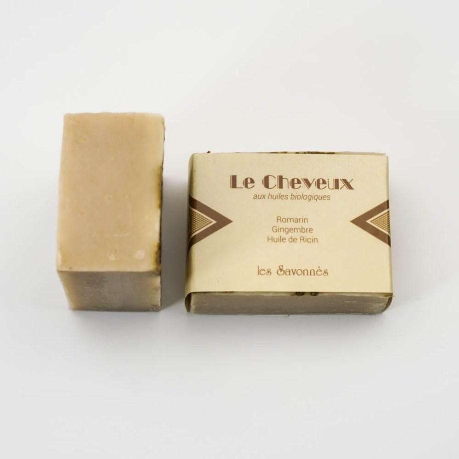 Shampoing solide - Les Savonnés - Savon solide saponifié à froid, surgras, naturel et bio, zéro déchet