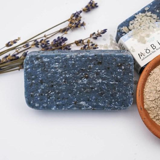 LAVANDE & RHASSOUL - Möbius - Savon solide saponifié à froid, surgras, naturel et bio, zéro déchet