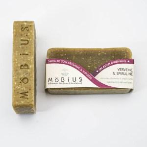 VERVEINE & SPIRULINE - Möbius - Savon solide saponifié à froid, surgras, naturel et bio, zéro déchet