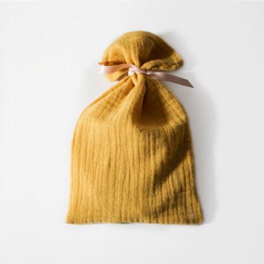 Petit pochon mourtarde cadeau réutilisable - accessoire zéro déchet