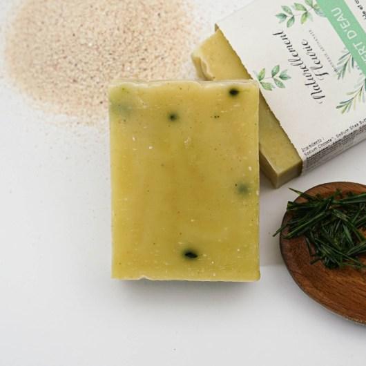 Savon aux algues et au sable de Vendée - Savon solide saponifié à froid, surgras, naturel et bio, zéro déchet