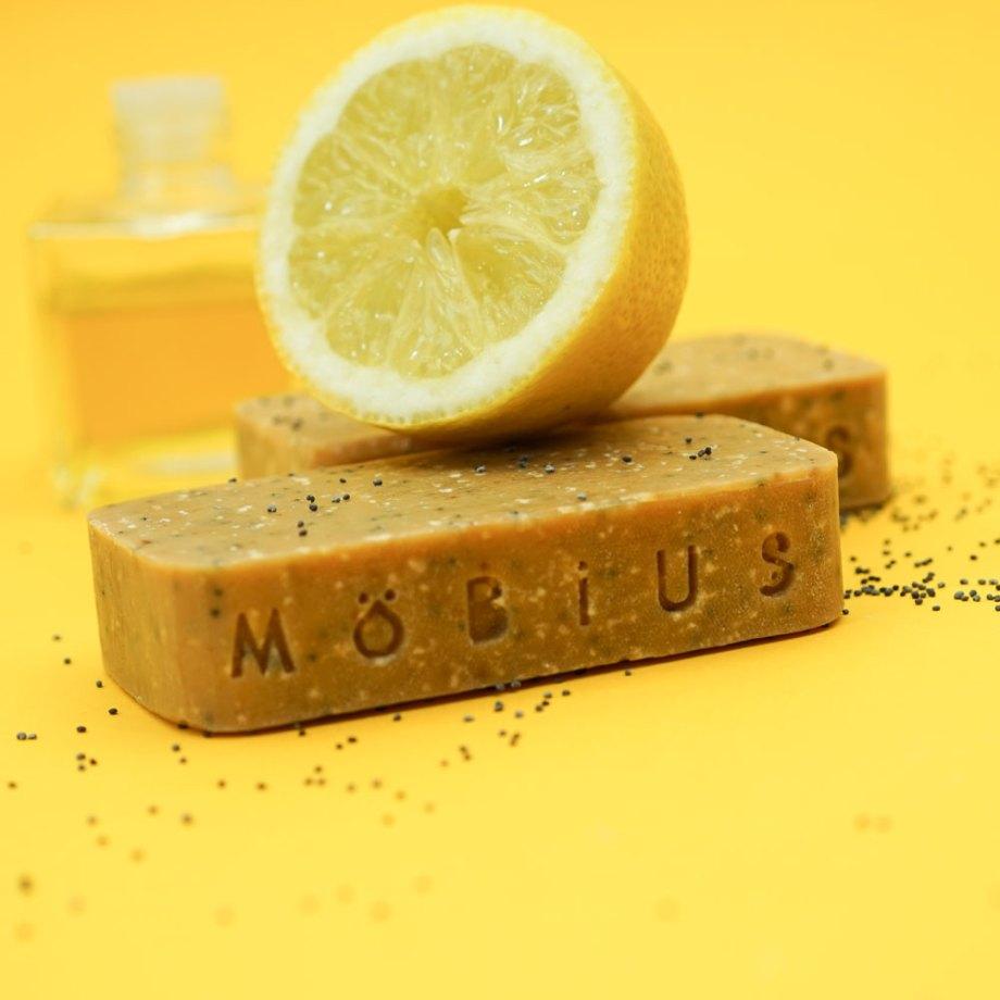 Savon solide Citron & pavot - MöBiUS Cosmétiques