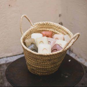Panier de savonnettes les savons de lyna