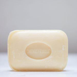 Savonnette de Marseille rectangulaire de couleur beige au parfum chevrefeuille