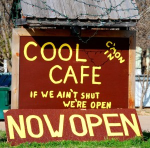 Cool Cafe: If We Ain't Shut We're Open - Cool, Texas