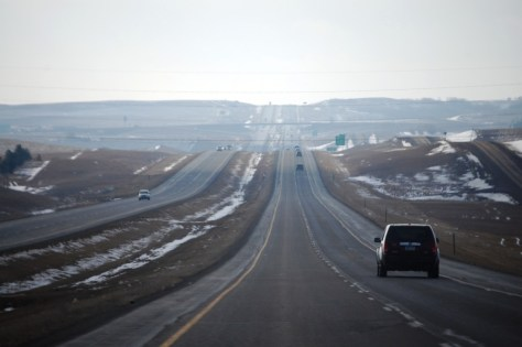 I-94 west of Bismarck, ND