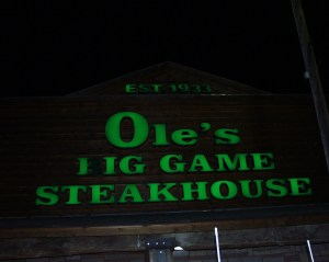 Ole's Big Game Steakhouse - Paxton, Nebraska