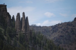 Unique Formations west of Wapiti