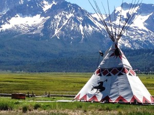 Teepee in Stanley, ID