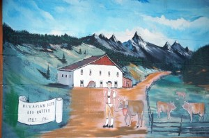 Mural at Kutter's Cheese Factory in Corfu, New York