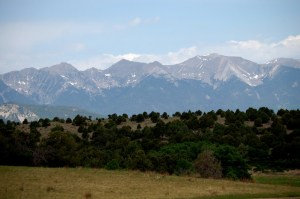 Sange de Cristo Range near Cotopaxi as seen from CO Cty Hwy 1A