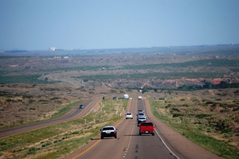 US 87/287 heading south into Amarillo, Texas