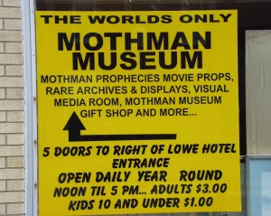 Mothman Museuam in Point Pleasant, WV