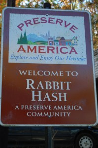 Welcome to Rabbit Hash, KY
