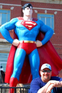 Sumoflam with Superman in Metropolis, IL