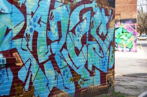 Graffiti everywhere - very colorful