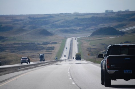 US Route 2 west of Minot, ND