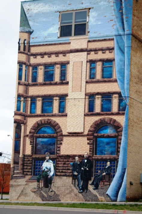 Asaph Whittlesey Mural, completed in 1998 by Kelly Meredith and Susan Prentice-Martinsen