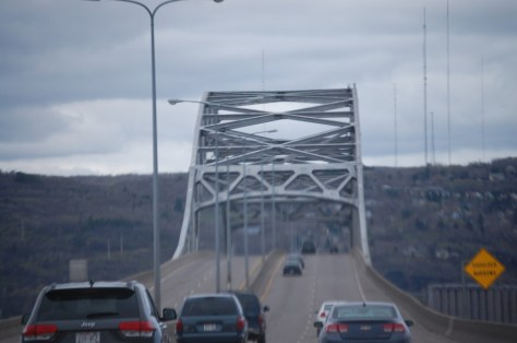 US Route 2 bridge crossing over into Duluth, MN