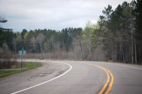 US Route 2 in northern Minnesota between Floodwood and Grand Rapids