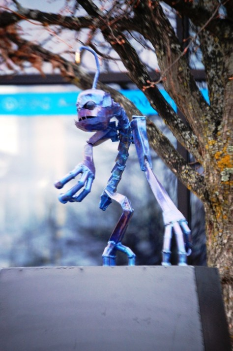 Hinkypunk by Chris Gustafson, part of the Bemidji Sculpture Walk