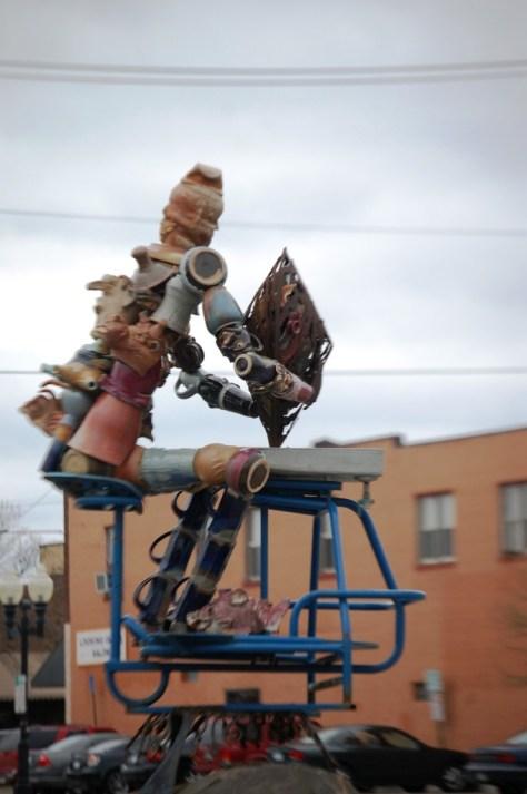 A Scrap Metal Sculpture in Bemidji, MN