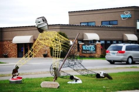Pete the Curler by Dale Lewis - one of 25 pieces in the 2014 Sculpture Walk