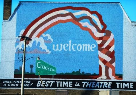 Welcome to Crookston mural in Crookston, MN