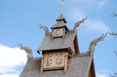 Top of a replica of an old Scandinavian Church in Minot, ND
