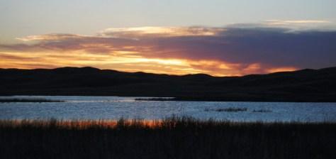 Sunset along Nebraska Hwy 2 in the Sandhills