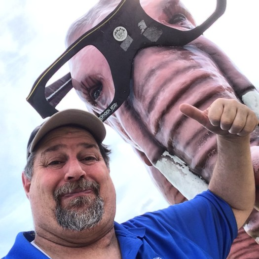 Selfie with Pink Elephant of DeForest, WI