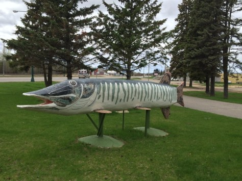 Great Northern Pike statue in Deer Park, MN
