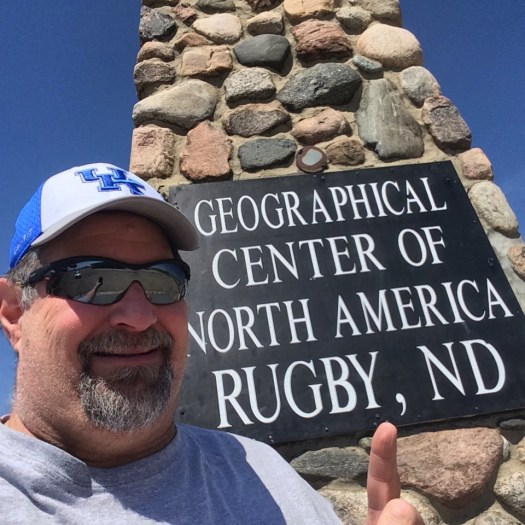 Selfie at Rugby, ND