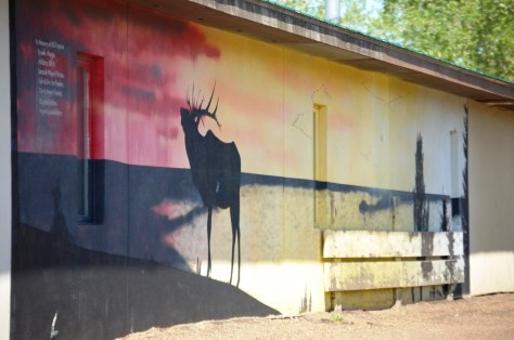 Elk Mural in Glasgow, Montana