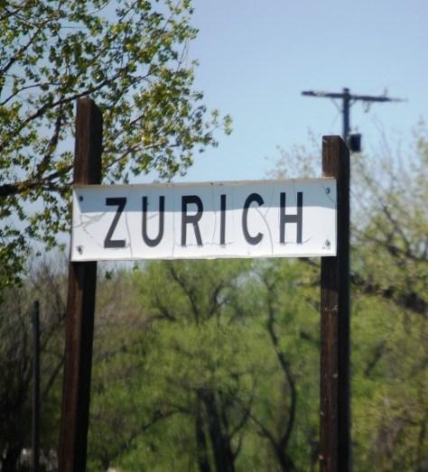 Zurich, Montana - a small dot on the Hi-Line