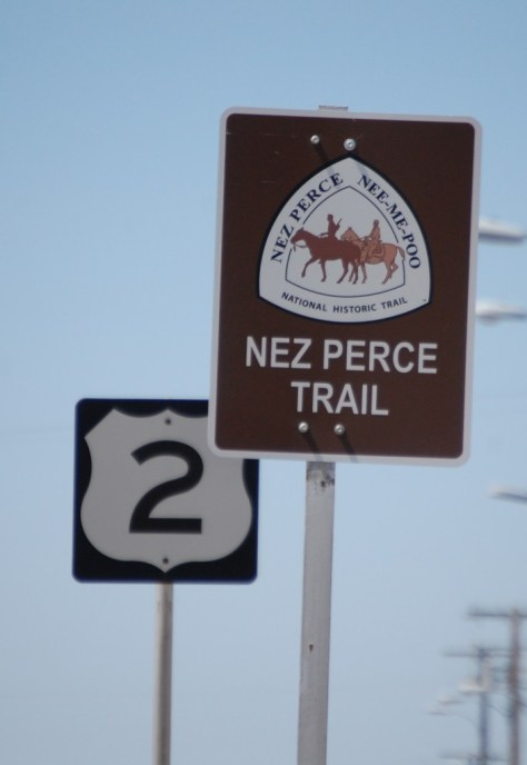 Nez Perce Trail on US Route 2 near Chinook, Montana