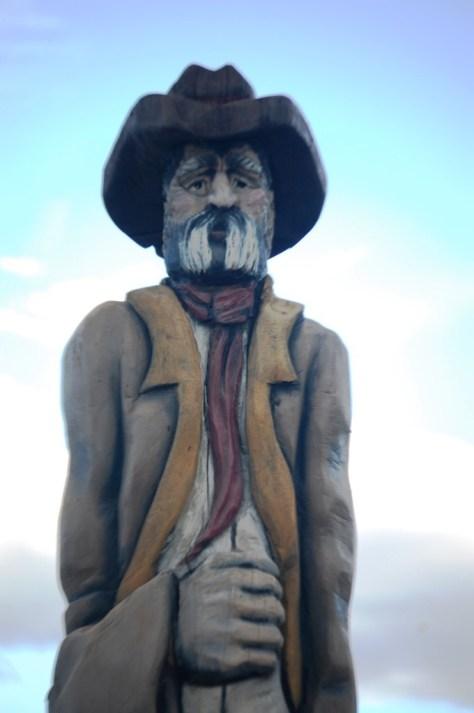Big Wooden Cowboy in Choteau, Montana